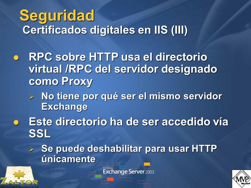 Seguridad Certificados digitales en IIS (III)