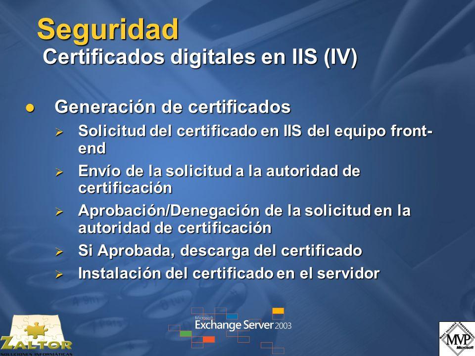 Seguridad Certificados digitales en IIS (IV)