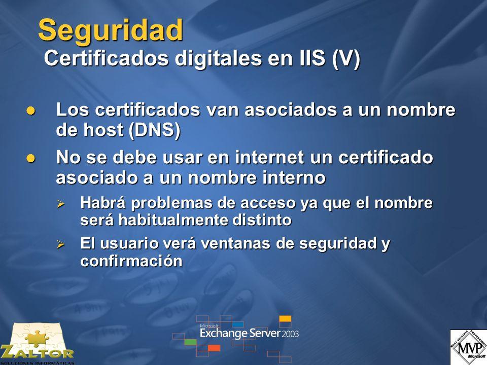Seguridad Certificados digitales en IIS (V)
