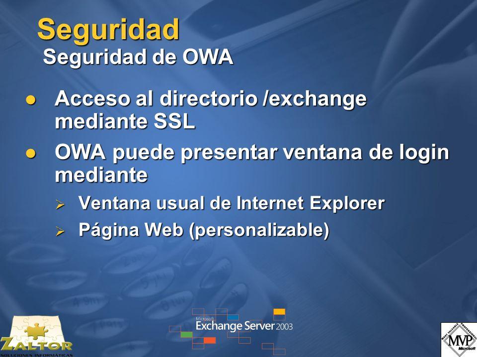 Seguridad Seguridad de OWA