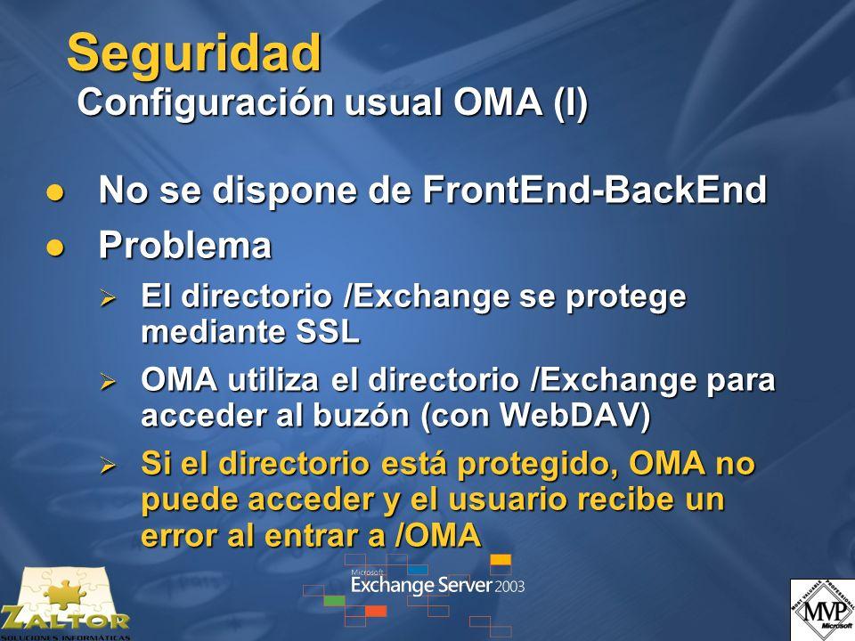 Seguridad Configuración usual OMA (I)