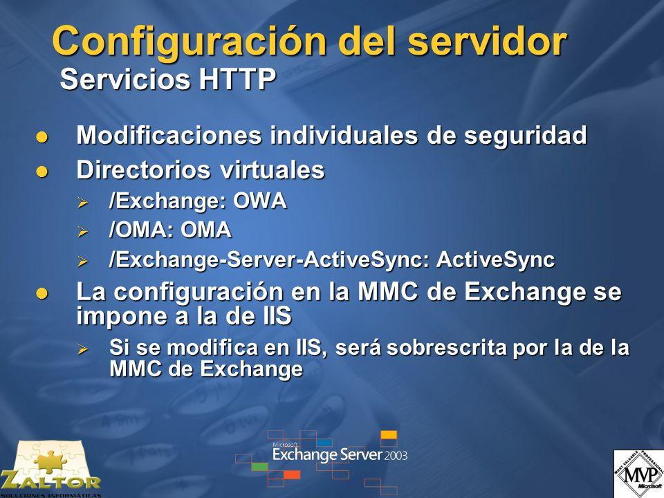 Configuración del servidor Servicios HTTP