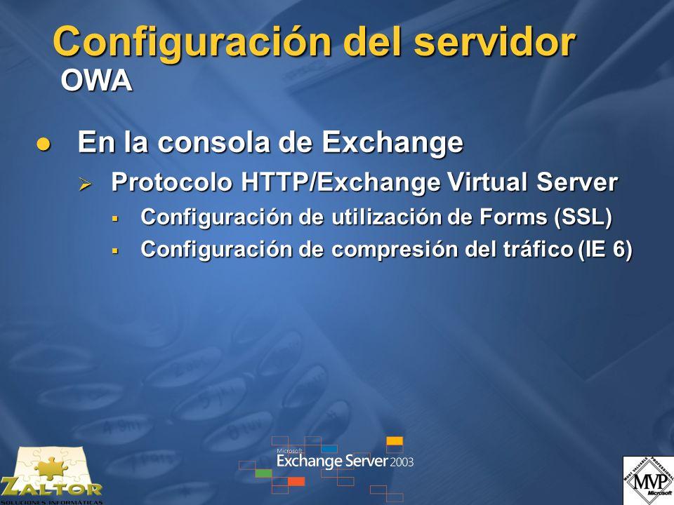Configuración del servidor OWA