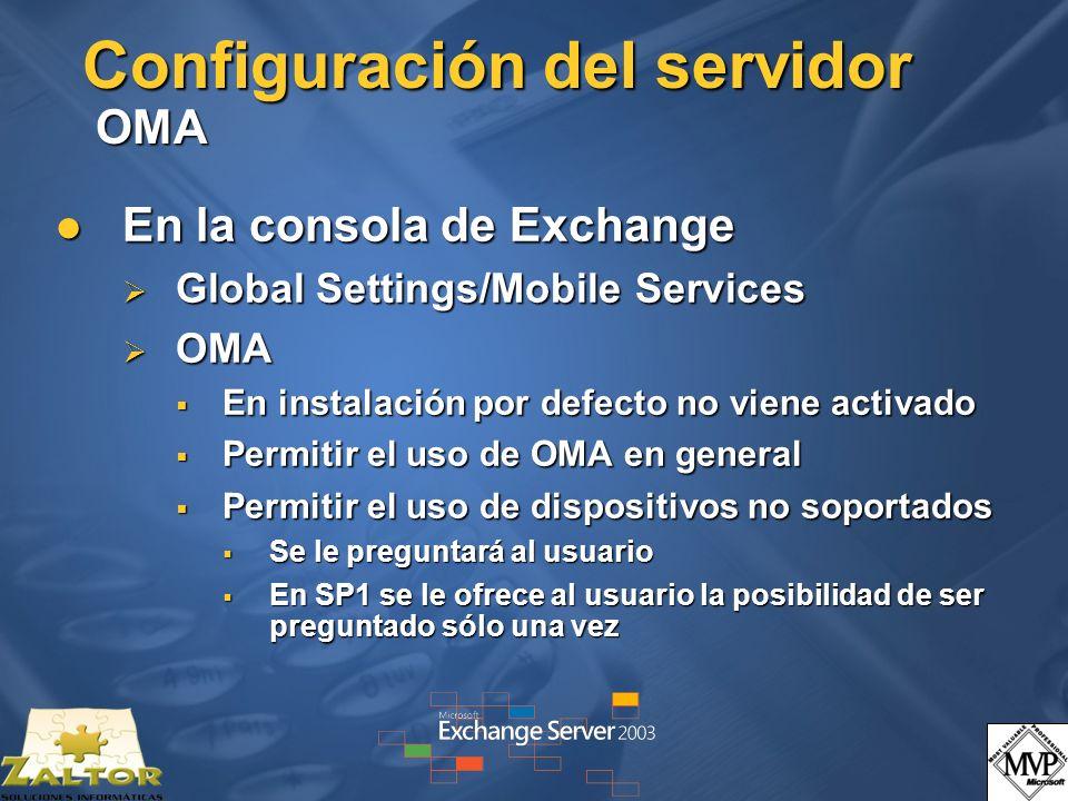 Configuración del servidor OMA