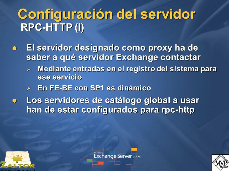 Configuración del servidor RPC-HTTP (I)