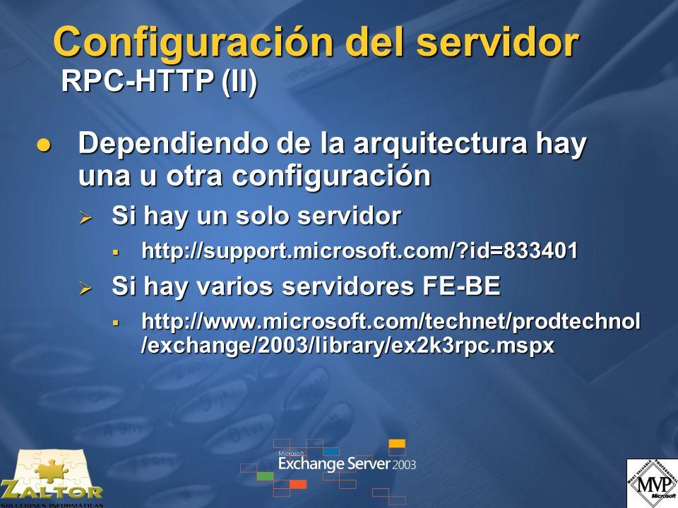 Configuración del servidor RPC-HTTP (II)