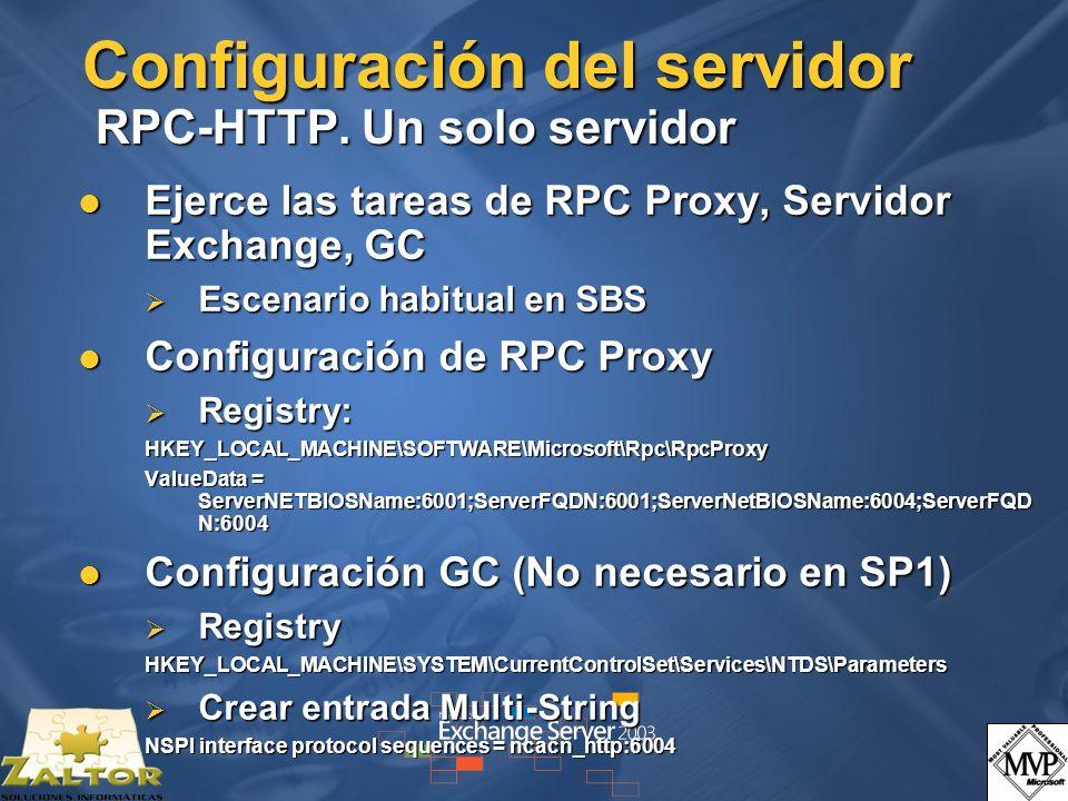 Configuración del servidor RPC-HTTP. Un solo servidor