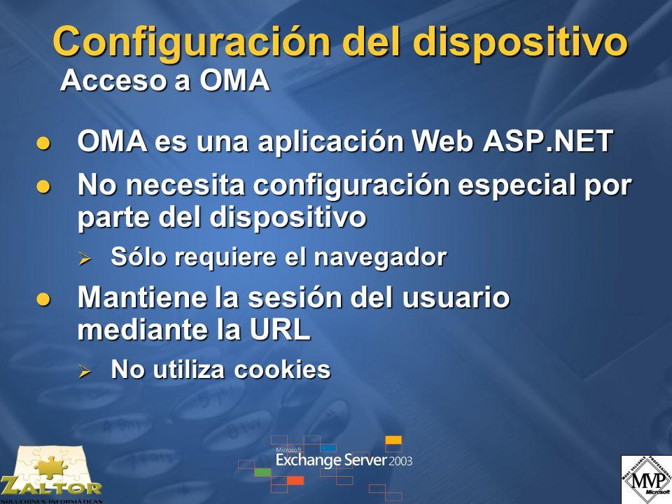 Configuración del dispositivo Acceso a OMA