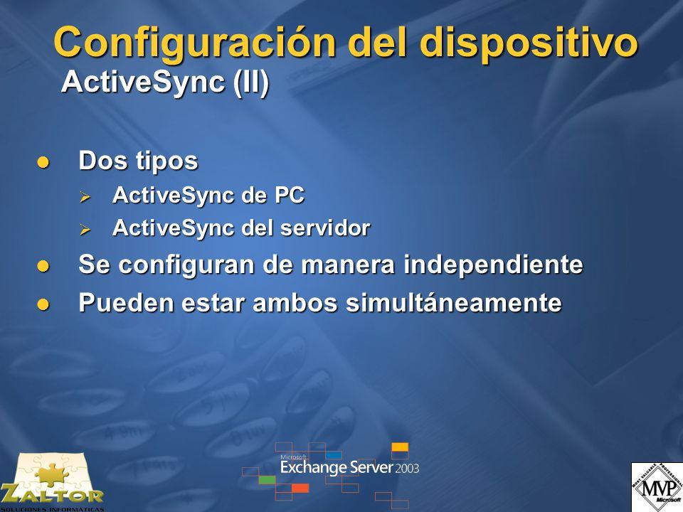 Configuración del dispositivo ActiveSync (II)