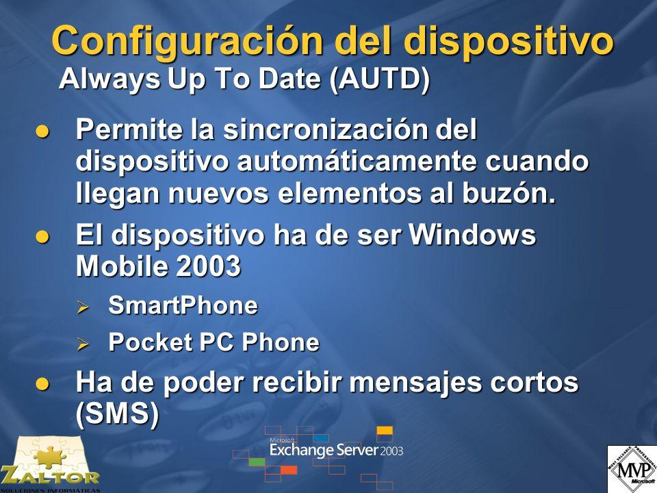 Configuración del dispositivo Always Up To Date (AUTD)
