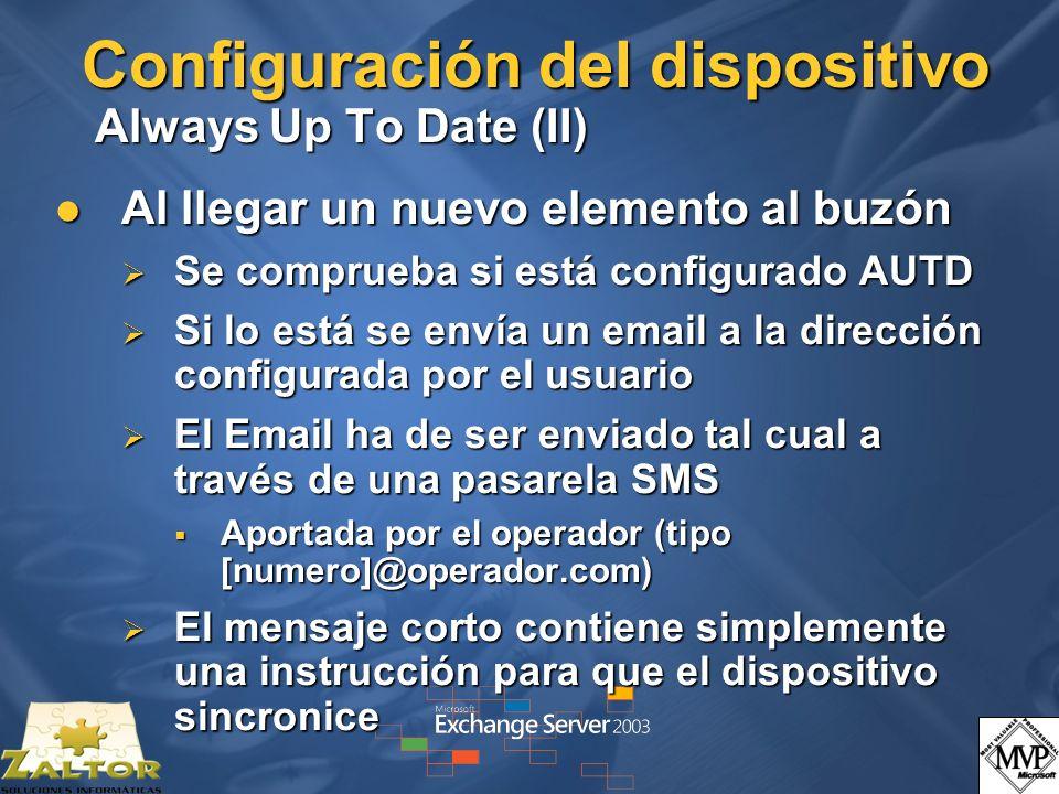 Configuración del dispositivo Always Up To Date (II)