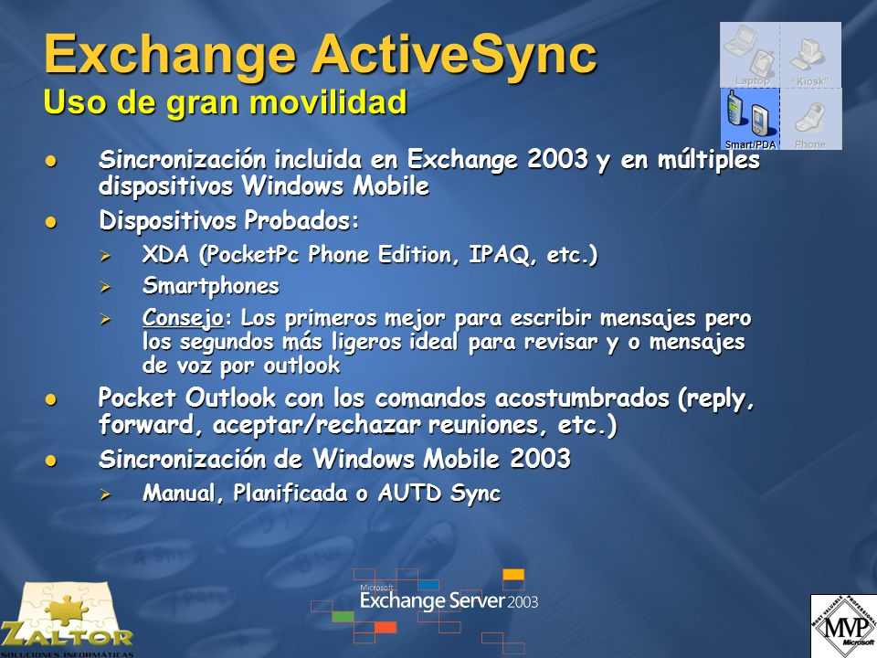 Exchange ActiveSync Uso de gran movilidad