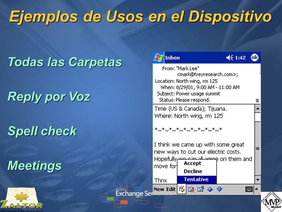 Ejemplos de Usos en el Dispositivo