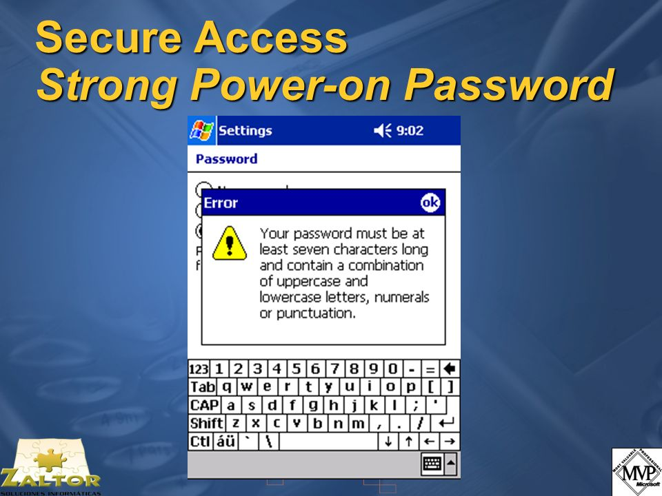 Secure Access Strong Power-on Password