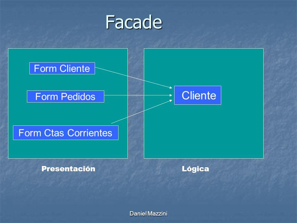 Facade Form Cliente Cliente Form Pedidos Form Ctas Corrientes