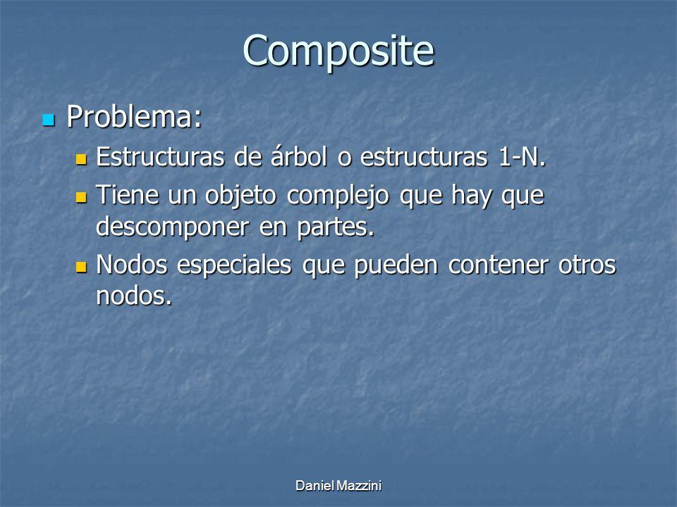 Composite Problema: Estructuras de árbol o estructuras 1-N.