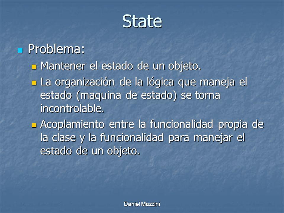 State Problema: Mantener el estado de un objeto.