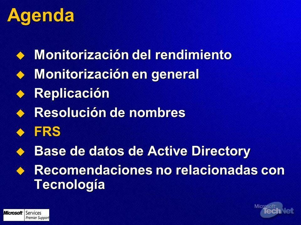 Agenda Monitorización del rendimiento Monitorización en general