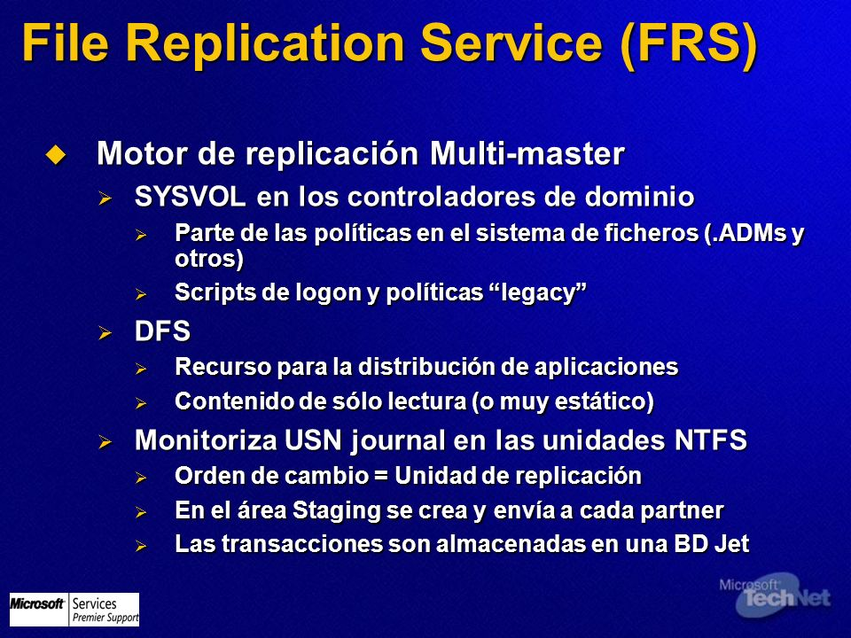 File Replication Service (FRS)