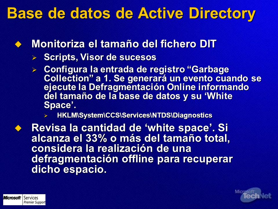 Base de datos de Active Directory