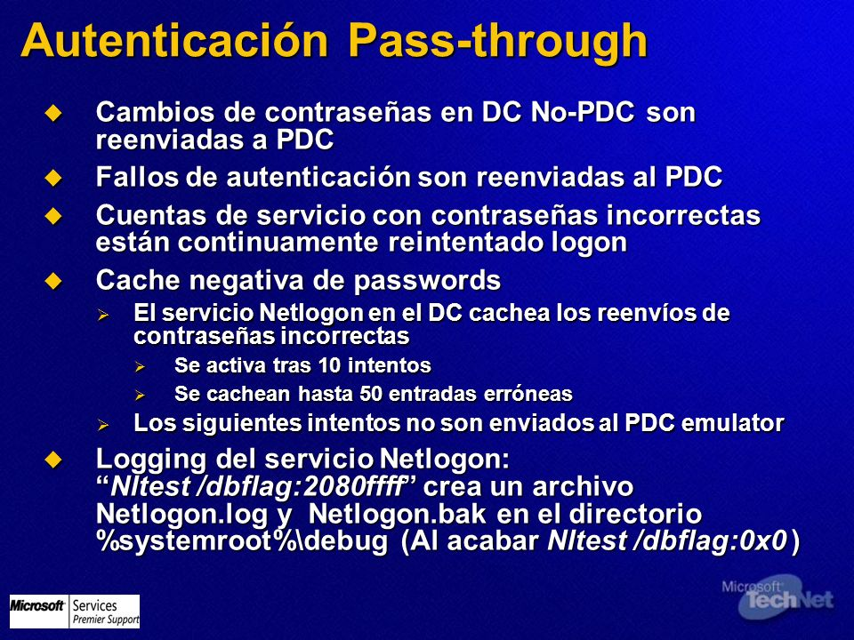Autenticación Pass-through