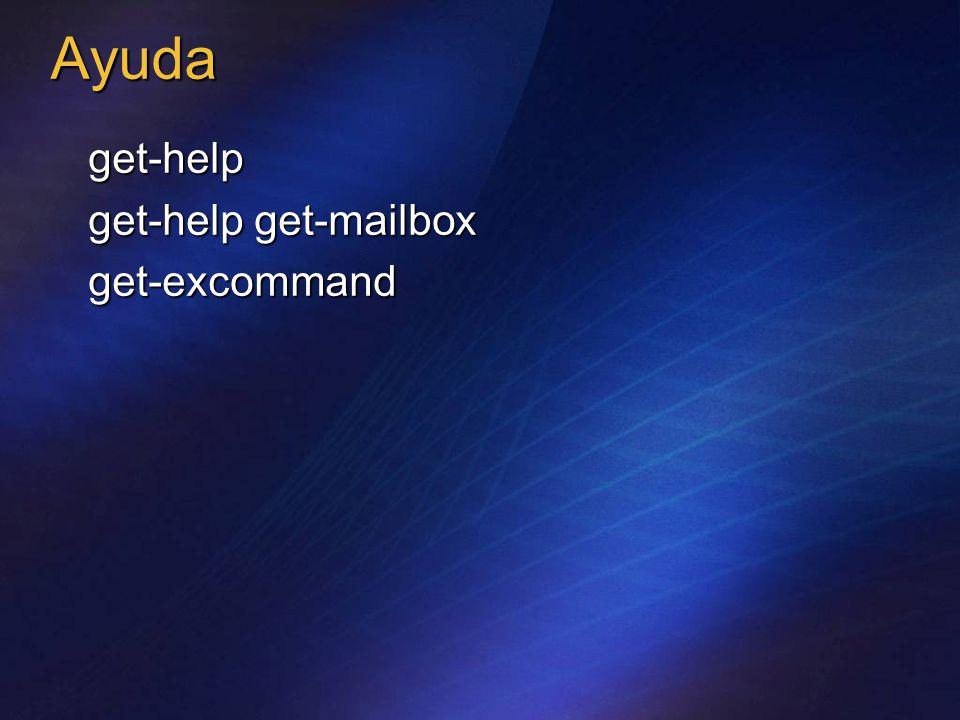 Ayuda get-help get-help get-mailbox get-excommand