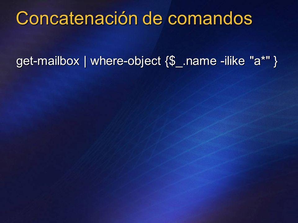 Concatenación de comandos