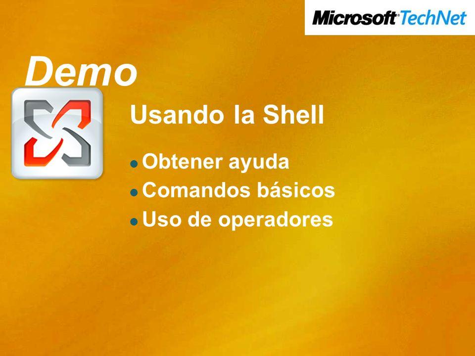 Demo Demo Usando la Shell Obtener ayuda Comandos básicos