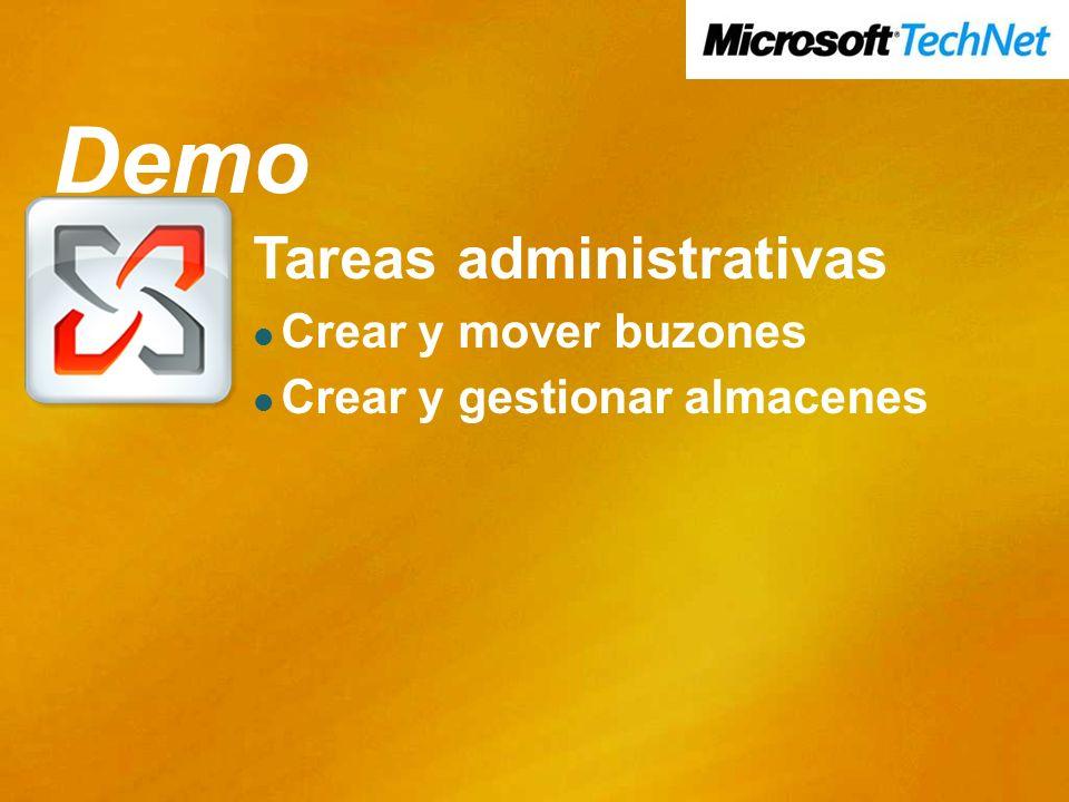 Demo Demo Tareas administrativas Crear y mover buzones