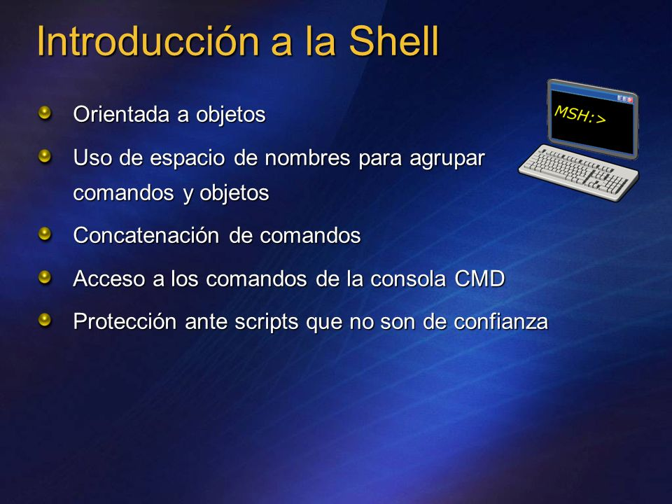 Introducción a la Shell