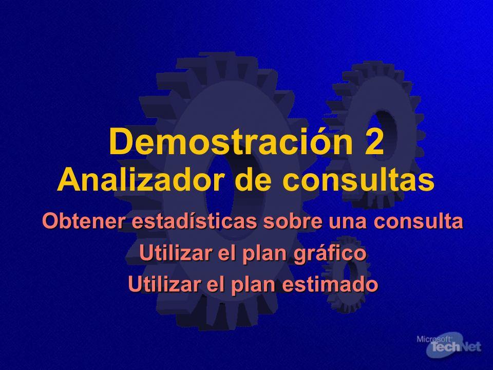 Demostración 2 Analizador de consultas
