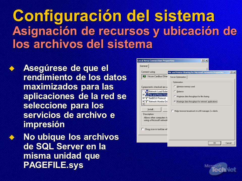 Configuración del sistema Asignación de recursos y ubicación de los archivos del sistema
