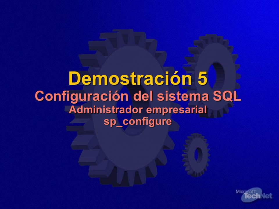 KEY MESSAGE: Demo SQL Config
