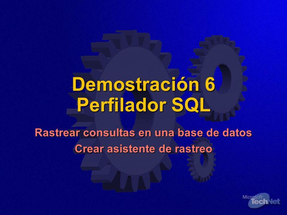 Demostración 6 Perfilador SQL