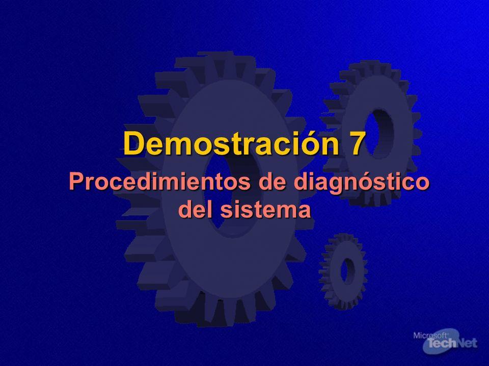 Demostración 7 Procedimientos de diagnóstico del sistema