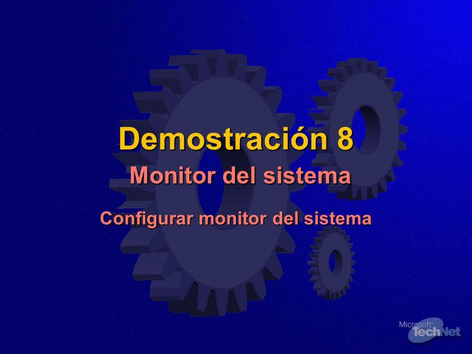 Demostración 8 Monitor del sistema
