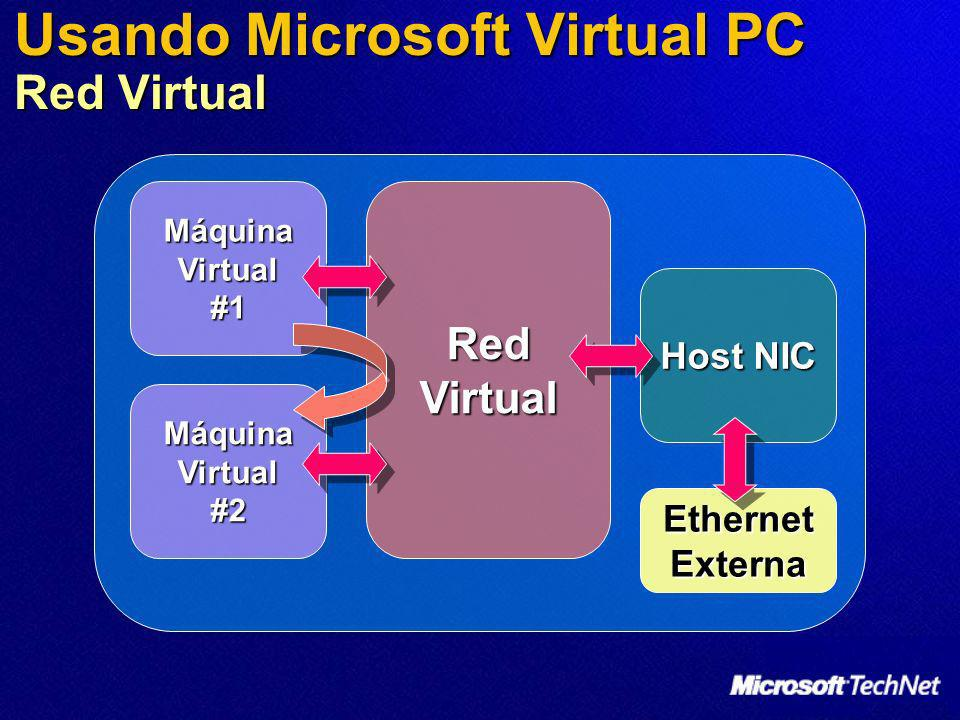 Usando Microsoft Virtual PC Red Virtual