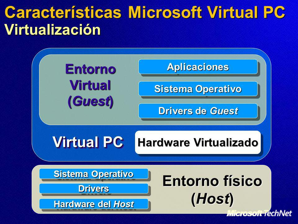 Características Microsoft Virtual PC Virtualización