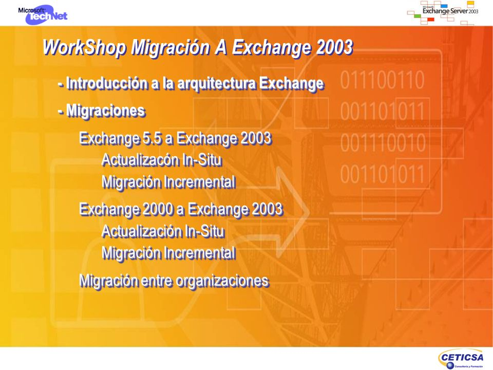 WorkShop Migración A Exchange 2003