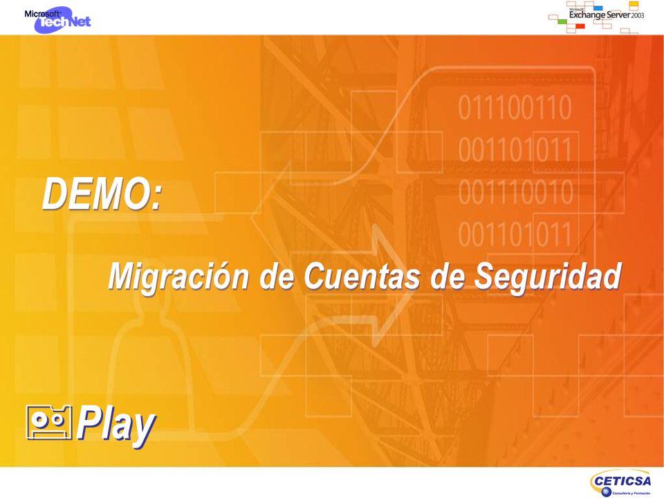 DEMO: Migración de Cuentas de Seguridad Play