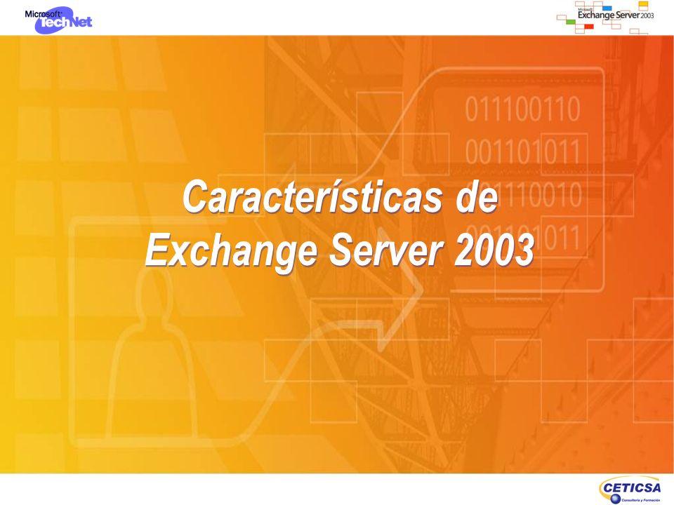 Características de Exchange Server 2003