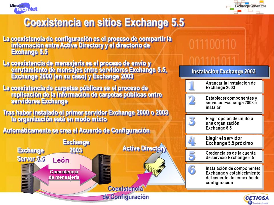 Coexistencia en sitios Exchange 5.5