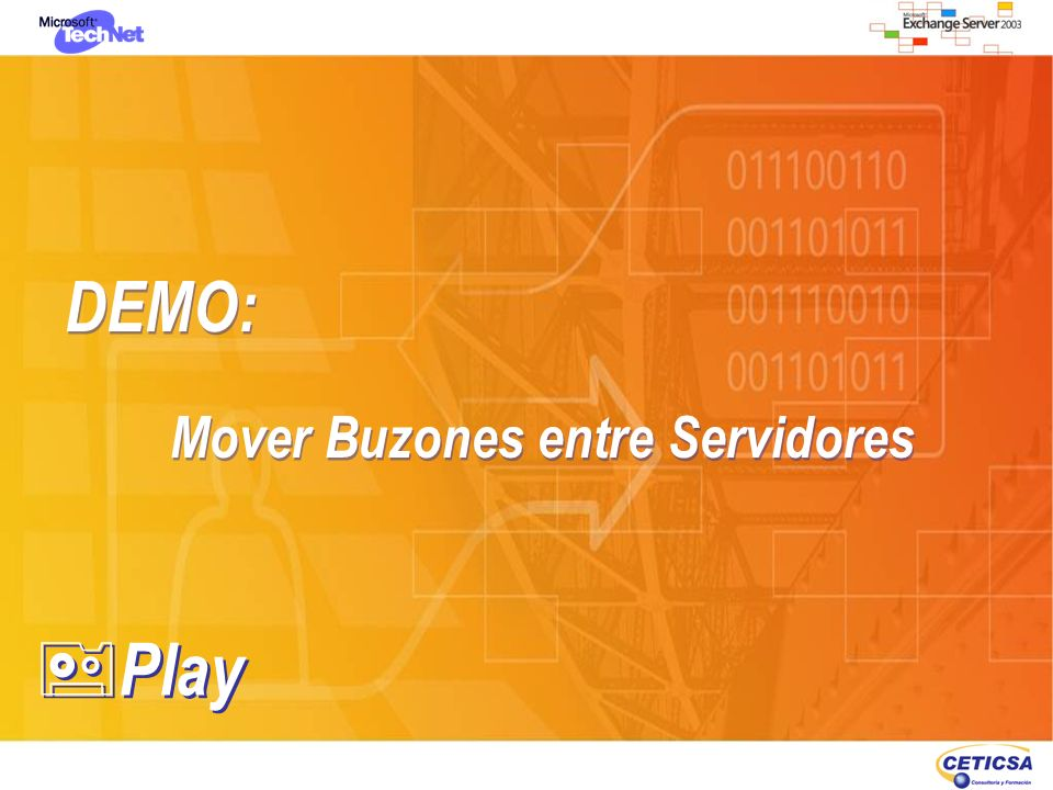 DEMO: Mover Buzones entre Servidores Play