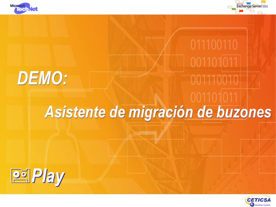 DEMO: Asistente de migración de buzones Play