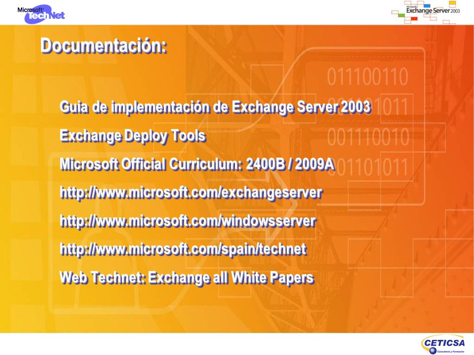 Documentación: Guia de implementación de Exchange Server 2003