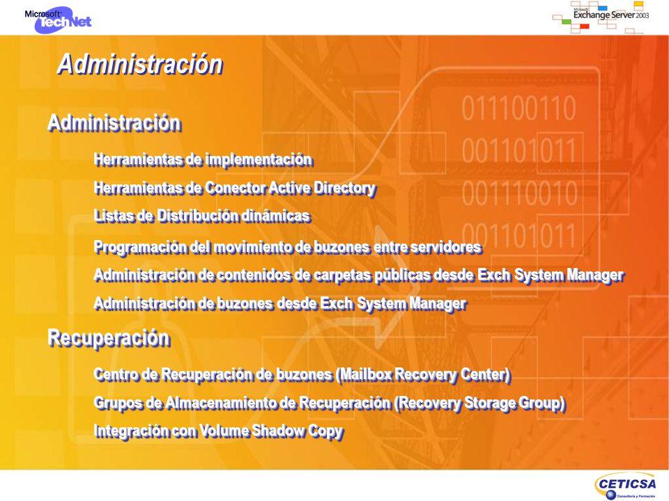 Administración Herramientas de implementación