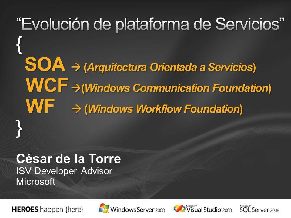 César de la Torre ISV Developer Advisor Microsoft