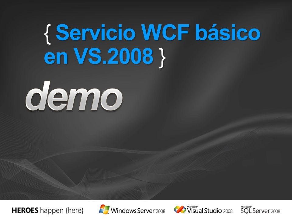 { Servicio WCF básico en VS.2008 }