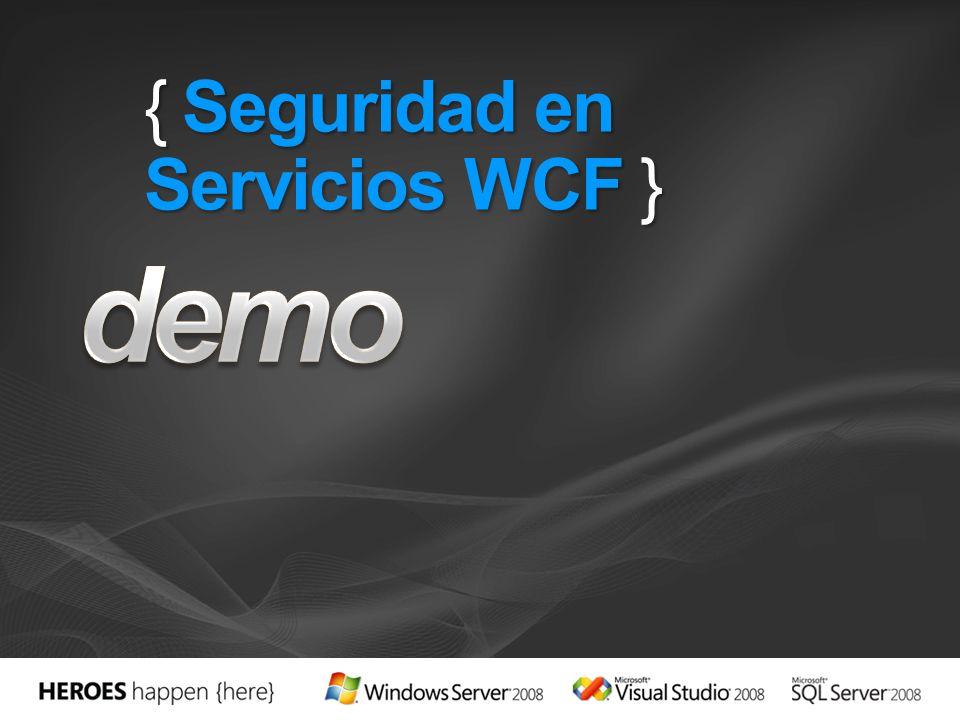 { Seguridad en Servicios WCF }