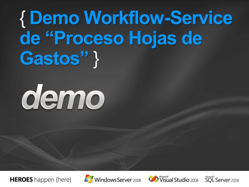 { Demo Workflow-Service de Proceso Hojas de Gastos }